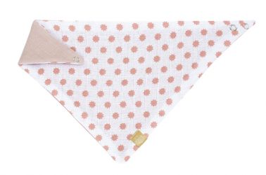 Lässig slintáček Bandana Muslin Little Chums Stars light pink