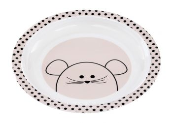 Lassig Plate with Silicone Little Chums mouse