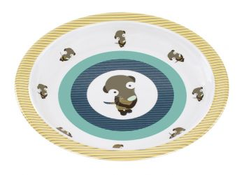 Lassig Plate with Silicone Wildlife meerkat
