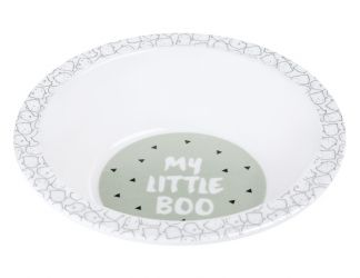 Lassig Bowl with Silicone Little Spookies olive