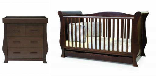 BabyStyle Hollie postýlka + komoda Rich Walnut