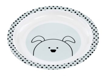 Lassig Plate with Silicone Little Chums dog