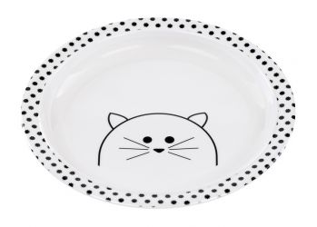 Lassig Plate with Silicone Little Chums cat