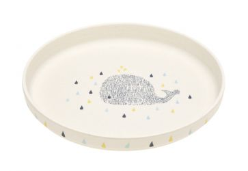 Lassig Plate Bamboo Little Water Whale