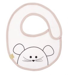 Lassig Small Bib Waterproof Little Chums mouse