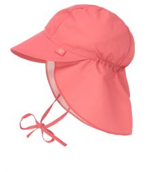 Lassig Sun Flap Hat coral 09-12 mo.