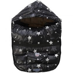 7AM Enfant Baby Shield fusak M, Print Black Stars