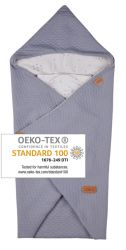 Baby Wrap light grey star