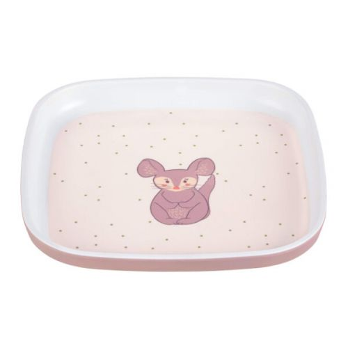 Plate Melamine/Silicone About Friends chinchilla